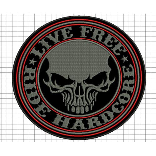 Nášivka Ride Hardcore /v