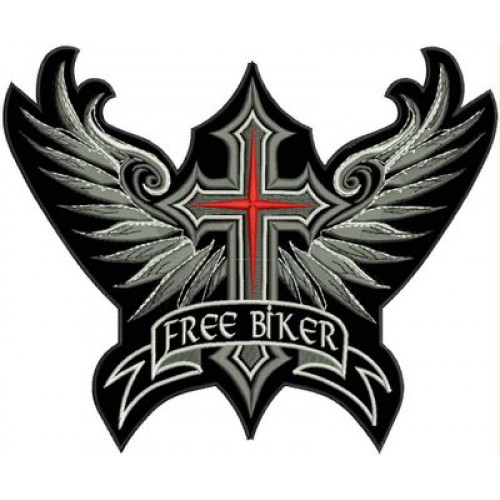 Nášivka kríž Free biker M43