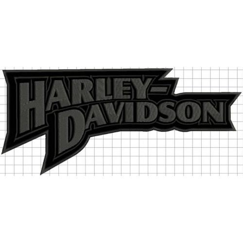 Nášivka H-D nápis sivá