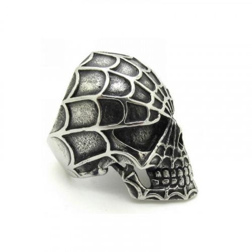 Prsteň - Lebka s pavučinou