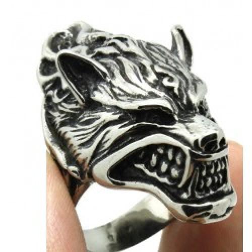 Prsteň - Vlk s plameňmi